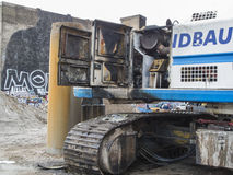 DSCN1350_Burned-out drilling pile driver Stock Photography