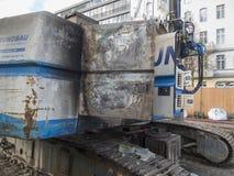 DSCN1363_Burned-out drilling pile driver Stock Images