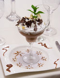 Désert de luxe de chocolat Photo stock