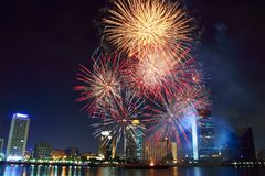 Dsf fireworks royalty free stock photos