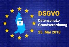 Dsgvo - Allemand Datenschutz-Grundverordnung GDPR - Règlement général de protection des données Illustration de vecteur Photographie stock