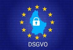 Dsgvo - Allemand Datenschutz-Grundverordnung GDPR - Règlement général de protection des données Illustration de vecteur Photos stock