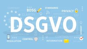 DSGVO-begreppsillustration royaltyfri illustrationer
