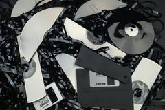 Data security - data destruction. DSGVO Data protection, security and destruction Stock Images