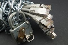 Data security - data destruction. DSGVO Data protection, security and destruction Royalty Free Stock Image
