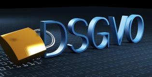 DSGVO Datenschutz-Grundverordnung, texte allemand pour le règlement de base de protection des données de GDPR Photo stock