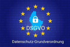 Dsgvo - Duitse datenschutz-Grundverordnung GDPR - Algemene Gegevensbeschermingverordening Vector illustratie Stock Foto's