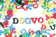 DSGVO is the German abbreviation for general data protection regulation GDPR. DSGVO is the German abbreviation for Datenschutz-Grundverordnung or general data Stock Photo