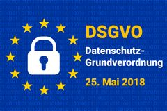 Dsgvo - german Datenschutz-Grundverordnung. gdpr - General Data Protection Regulation. vector stock illustration