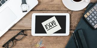German General Data Protection Regulation DSGVO new law in 201. DSGVO German for new regulation effective May 2018 in European Union on general data protection/ Royalty Free Stock Photography