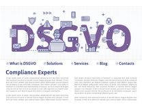 Free DSGVO, German Version Of GDPR: Datenschutz Grundverordnung. Concept Illustration. General Data Protection Regulation Stock Photography - 113720212