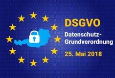 Dsgvo - niemiec Datenschutz-Grundverordnung GDPR - Ogólnych dane ochrony przepis również zwrócić corel ilustracji wektora Zdjęcie Stock
