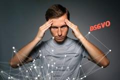 DSGVO, niemiecka wersja GDPR, pojęcie wizerunek Ogólnych dane ochrony przepis, ochrona osobiści dane zdjęcia stock