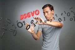 DSGVO, niemiecka wersja GDPR, pojęcie wizerunek Ogólnych dane ochrony przepis, ochrona osobiści dane człowieku obraz royalty free