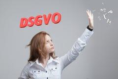 DSGVO, niemiecka wersja GDPR, pojęcie wizerunek Ogólnych dane ochrony przepis, ochrona osobiści dane Potomstwa obraz royalty free