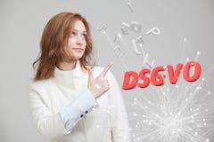 DSGVO, niemiecka wersja GDPR, pojęcie wizerunek Ogólnych dane ochrony przepis, ochrona osobiści dane Potomstwa zdjęcia stock