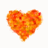 Dsign heart from fractal particle on white backgrounds Royalty Free Stock Photo