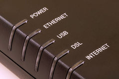 DSL Modem Detail Royalty Free Stock Photos