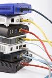 DSL modems WiFI Royalty Free Stock Photos