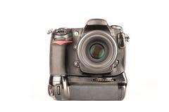 DSLR照相机正面图 免版税库存图片