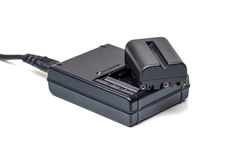 DSLR照相机的电池 库存图片