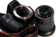 DSLR照相机 免版税图库摄影