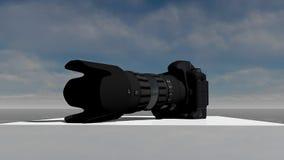 DSLR照相机3D模型 免版税库存图片