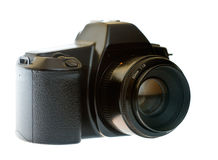 DSLR with a 50 mm lens Royalty Free Stock Photos
