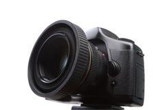 Dslr camera. Isolated on white background Stock Image