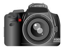 Dslr Camera. Isolated on white background Stock Photo