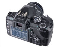 DSLR Camera back with LCD angled view Stock Images