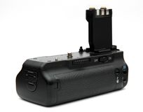 DSLR camera battery grip Stock Photography