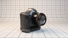 DSLR camera. 3d rendered illustration highest-end DSLR camera of studio stage Stock Image