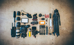 Dslr Camera Equipments Royalty Free Stock Image