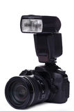 DSLR camera with flash Stock Photos