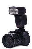 DSLR camera with flash Stock Photos