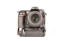 DSLR camera front view Royalty Free Stock Images