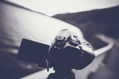 Dslr Camera Grayscale Photo Royalty Free Stock Photo