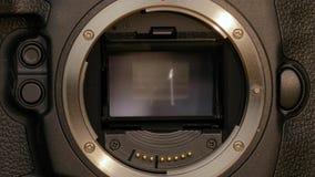 DSLR camera high speed burst. DSLR camera mirror high speed burst stock video