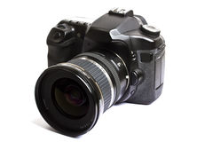 Dslr camera isolated on white Stock Photography