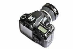 DSLR camera isolated on white Royalty Free Stock Photo