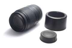 Dslr camera lens and accessories Stock Image