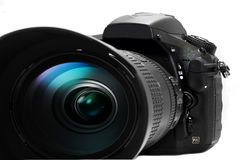 DSLR Camera With Lens Stock Photo