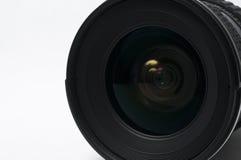 DSLR camera lense. Isolated on white background Royalty Free Stock Photos