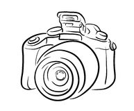 DSLR Camera Line Art Stock Image