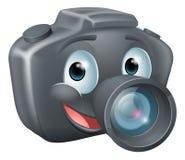 DSLR camera mascot character. Illustration of a cute happy DSLR camera mascot character with a big smile Royalty Free Stock Photos