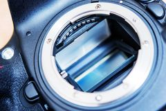 DSLR Camera Mirror Stock Photography