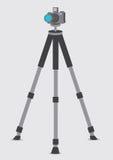 DSLR-Camera op Driepoot Vectorillustratie Stock Afbeelding
