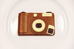 DSLR camera shaped chocolate Royalty Free Stock Photo