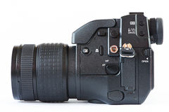 DSLR camera - side view Royalty Free Stock Images